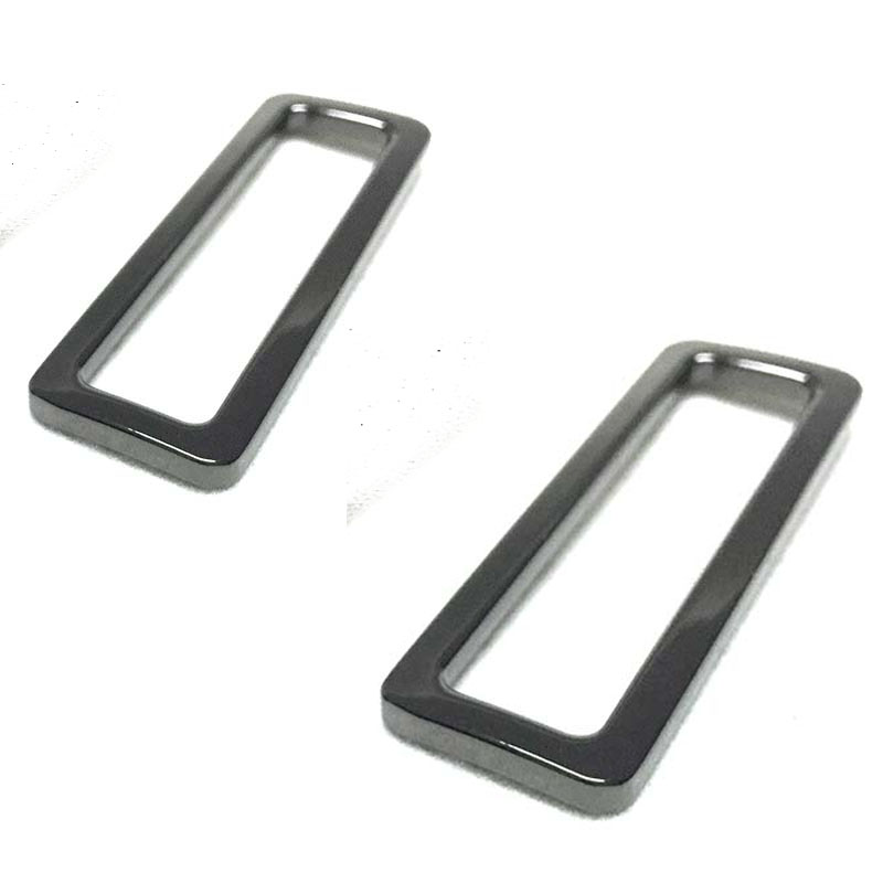 6 PCS 2 Inch Gunmetal Flat Metal Purse Slider Rectangular Rings