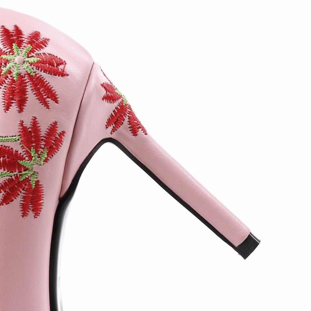 Talons Sur Mode 2018 Printemps Arden Taille Pompes pink White Furtado Fleurs Glissement Véritable Ethniques Automne Haute 33 Petite yellow En Grande La Cuir Z8qvn8w5
