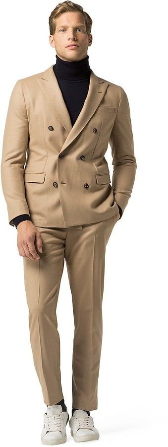 2017 Latest Coat Pant Design Brown Tan Men Suit Double Breasted Groom Suits Tuxedo Slim Fit Custom 2 Piece Prom Blazer Masculino