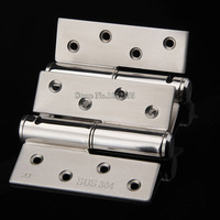4PCS/lot 4 SUS 304 Stainless Steel Casting Door Hinges Extra thick Smooth & Quiet Hydraulic Buffering Hinges Furniture Hardware