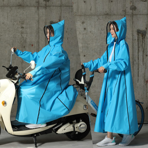 Image 4 - 2019 Sıcak Satış EVA Yağmurluk Kadınlar/Erkek Fermuar Kapşonlu Panço Motosiklet Yağmurluk Uzun Stil Yürüyüş Panço Çevre Yağmur Ceket