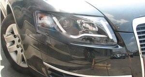 Image 2 - Bumper lamp for 2Pcs Headlights A6L 2005 2006 2007 2008 2009 2010 2011 car accessories,a6l car lights LED Daytime Running Lights