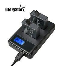 2 шт Hero 6 7 Hero 5 батареи+ ЖК-дисплей смарт-дисплей количество зарядное устройство для GoPro Hero 7 5 6 черные аксессуары для действий