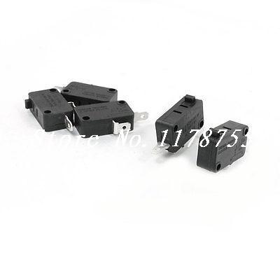 5Pcs NO+NC SPST 2 Pin Black Push Button Action Momentary Micro Switch  [vk] mpi001 rp gn 24 switch push spst no 0 05a 24v switch