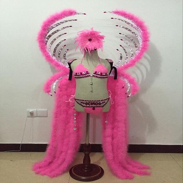 Chicas bailando Pavo Real pluma trajes headpiece tablero alas cola ...