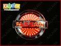 10.6*9 cm BIG 3D luz logotipo do carro LEVOU emblema do carro do laser 3D Caso de Substituição Para NISSAN Tiida Sylphy Tenna emblema e outro modelo