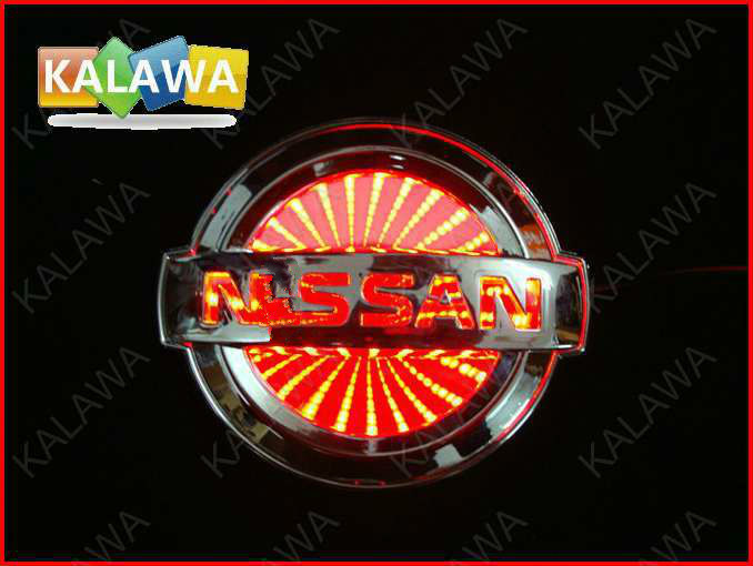 10.6*9cm BIG 3D car logo light  LED emblem 3D laser car badge  Replacement Case For NISSAN Tiida Tenna Sylphy and other model 1 piece car sticker styling waterproof 4d led el cold light badge logo emblem lamp for suzuki swift alto
