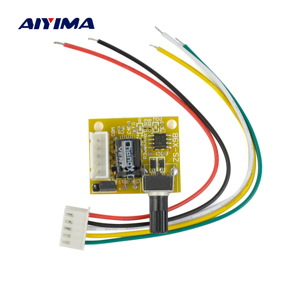 все цены на AIYIMA Mini BLDC DC Brushless Motor Governor Hard Drive Motor Fan Speed Regulator Switch No Sense Brushless Controller