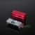 1 unid rojo 60 Holes Dental Autoclave caja de desinfección del sostenedor del caso para endodoncia escariadores