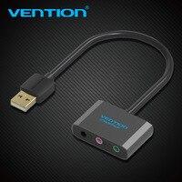 Vention USB внешняя звуковая карта USB до 3.5 мм Jack Femal наушники микрофон гарнитуры адаптер 3 отверстия Аудио карты для динамик ноутбука PS4 PC
