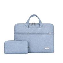 Waterproof  PU leather Laptop bag for Women 13.3 14 15 15.4 15.6 inch Laptop sleeve case for Men 2018