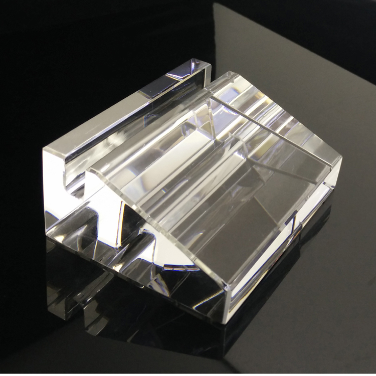 IFOLAINA Big Office Crystal Business Card Holder Formal Crystal Name ...
