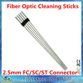 Free Shipping 100pcs/box Fiber Optic Cleaning Sticks for 2.5mm SC/FC/ST Connectors and Adapters