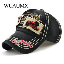 [Wuaumx] Retro Baseball Caps For Men Women Male Baseball Cap Hip Hop Bone Snapback Cap Cotton Trucker Hat Adjustable Casquette new fashion brand casquette trucker hater snapback unisex leather baseball caps cappelli snapback hip hop hat for men women