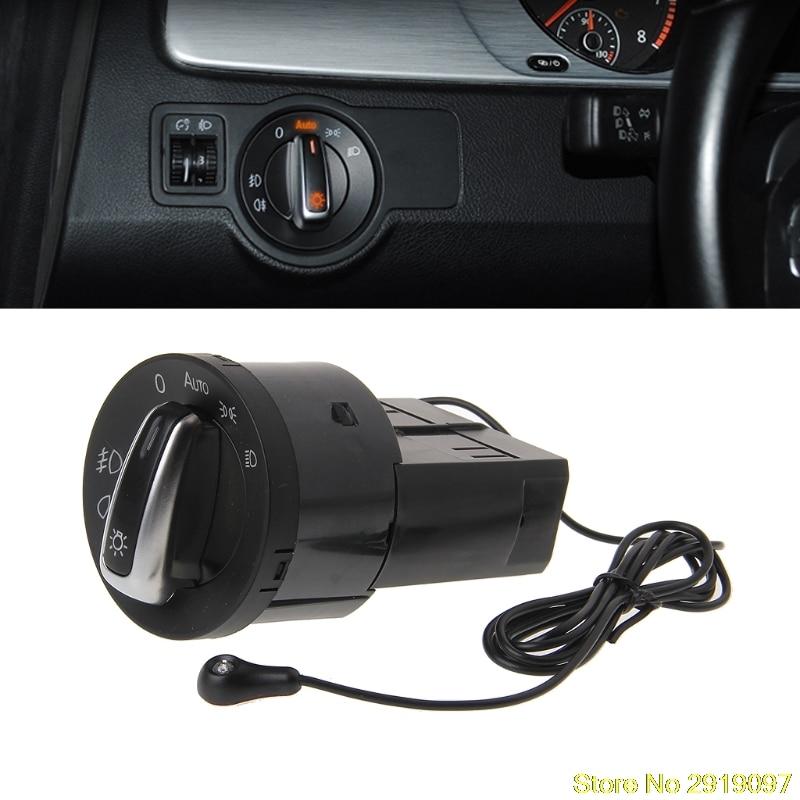 цена на New Arrive Auto Headlight Chrome Switch Plug For VW Polo Golf 4 Jetta MK4 Passat B5 Polo Drop Shipping Support