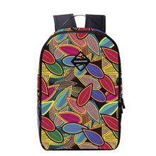 16 inch colourful leaf printing backpack for teenage ladies faculty luggage junior center faculty ebook bag girls backpack bag mochila