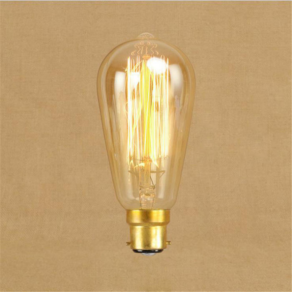 ST64 60W Vintage Squirrel B22 Edison bulb Retro Incandescent warm white Light Bulb 2300K decor lamp bulbs