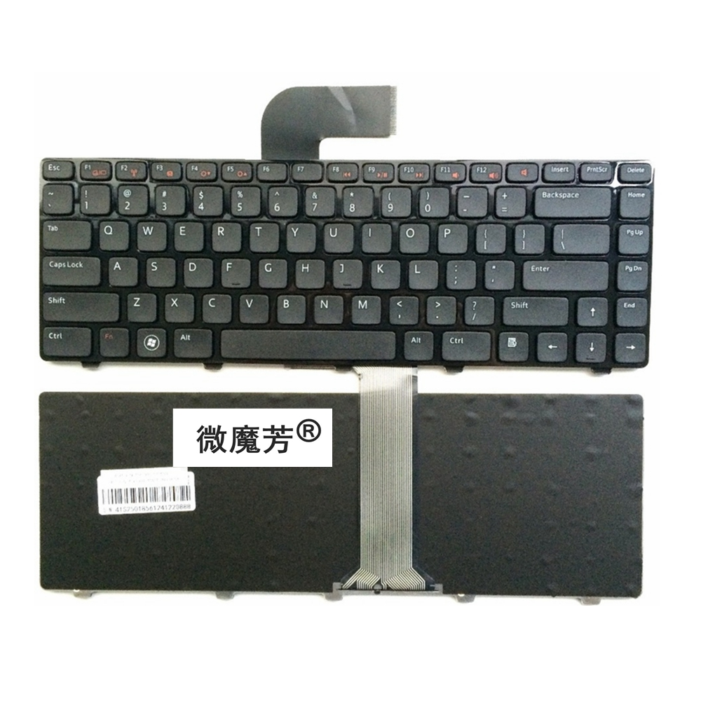 US Black New English Replace Laptop Keyboard For DELL 14RR-2518X V1550-336 N5050 N5040 N7520 V131-347 For VOSTRO 2520 V3350