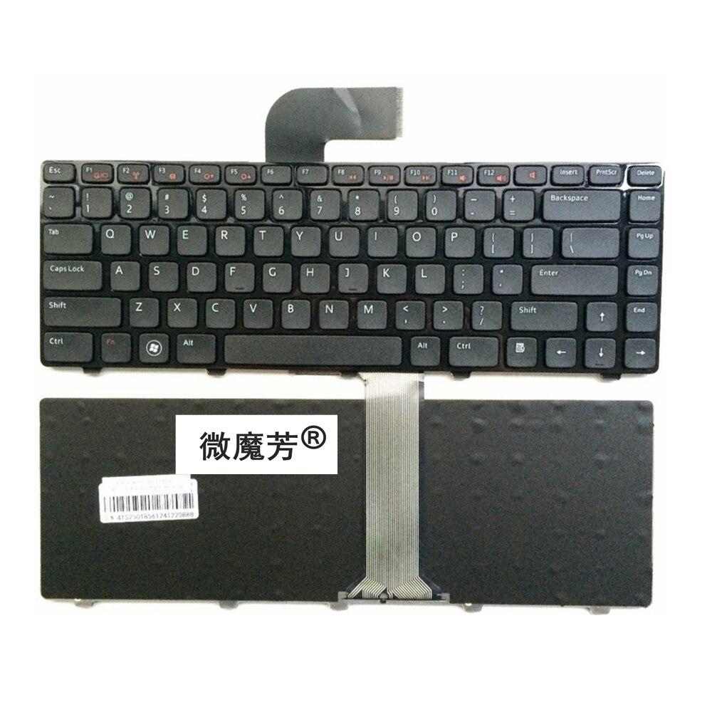 US Black New English Replace Laptop Keyboard For DELL 14RR-2518X V1550-336 N5050 N5040 N7520 V131-347 For VOSTRO 2520 V3350