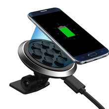 2016 Sucker Style Qi Car Wireless Charger Charging Pad Transmitter For Samsung S6 S7 S7 Edge Note 5 Plus S6 Edge Lumia 920 930