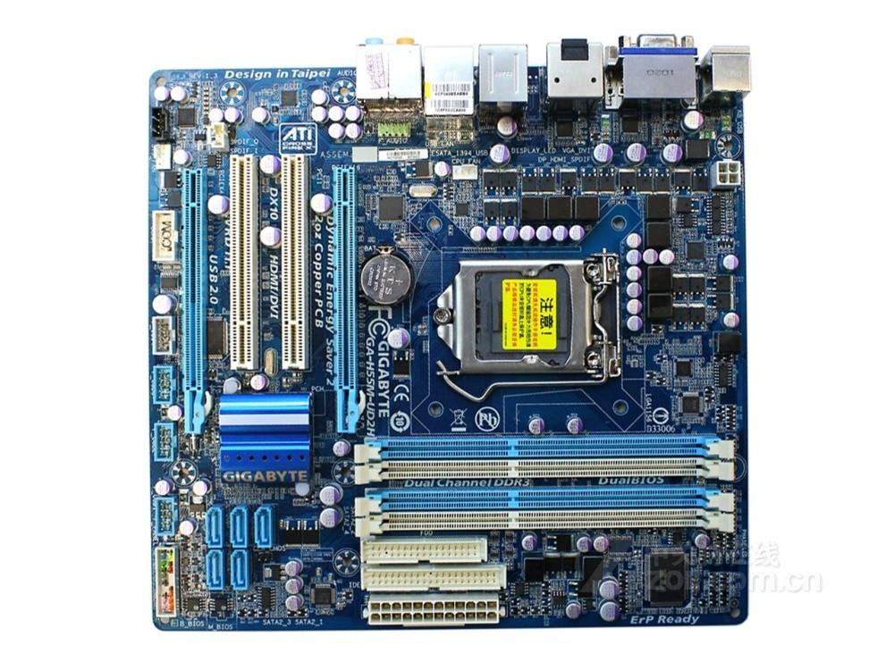 Gigabyte GA-H55M-UD2H Original Motherboard LGA 1156 DDR3 H55M-UD2H USB2.0 16GB DVI VGA HDMI H55 Desktop Motherboards