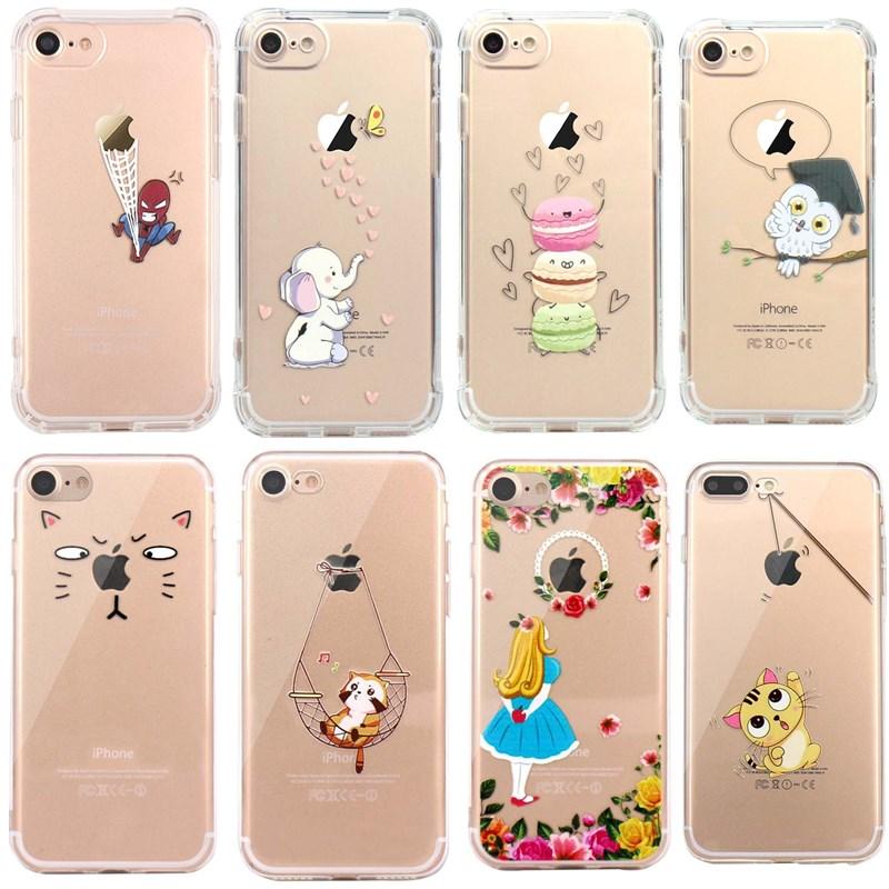 Silicon Case For iPhone 7 7Plus 6 6S 5 5S SE Case Soft TPU