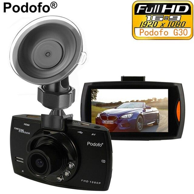 """Podofo автомобиля Камера g30 Full HD 1080 P 2.7 """"Автомобильный видеорегистратор Регистраторы + обнаружения движения Ночное Видение G-Сенсор 32 ГБ DVRs регистраторы черный ящик"""