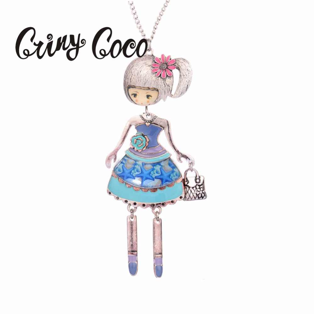 16d775825b612 Dance Doll Necklaces&Pendants Women Fashion Lovely Girl Wear Dress Bag  Charms Collar Jewelry Classic Long Chain Necklace 2019