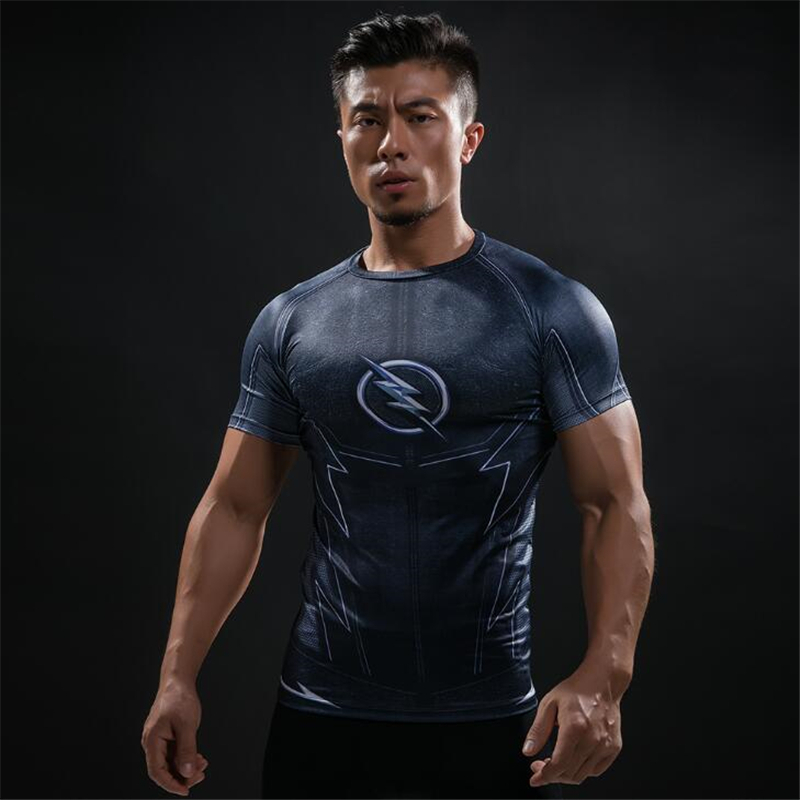 TUNSECHY Captain America T-shirts Men Avengers iron man Fitness Clothing Male Crossfit Tops T-shirts Wholesale and retail