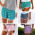 2015 women Shorts Women Beach Tassel Bohemian Print Loose Women's Short Feminino Plus Size S-XL