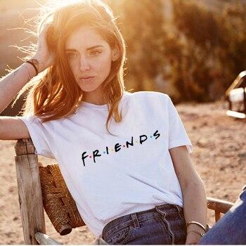 white friends female fashion tshirt