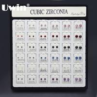 Luxury Earrings Set AAA Zircon PVD Color Stud Earrings For Women And Men Earing Fashion Jewelry