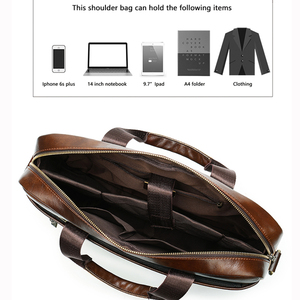 Image 5 - WESTAL Mens Briefcase Mens Bag Genuine Leather Laptop Bag Leather Computer/Office Bags for Men Document Briefcases Totes Bags