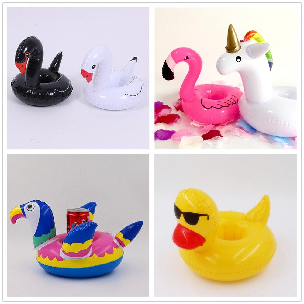 2pcs Flamingo Unicorn Float Cup Holder Coaster Inflatable Swimming Pool Baby Shower Hawaiian Beach Party Animal Decor Supplies,8