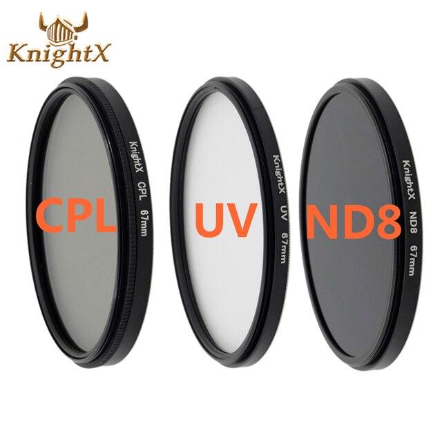 Filtro de lente uv knightx, câmera de lente uv cpl de 58mm para nikon canon t5i t3i t4i 550d 600d 650d 1100d 60d dslr d5200 d5300 d3100 d3300 52mm