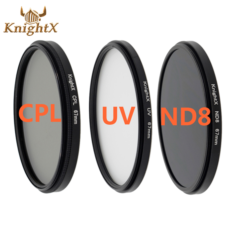 فیلتر لنز KnightX CPL UV 58mm ND برای نیکون Canon t5i T3i T4i 550D 600D 650D 1100D 60D دوربین DSLR D5200 D5300 D3100 D3300 52MM