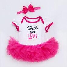 YK&Loving Summer girl baby clothing set 0-2 year love white short sleeve romper pink red skirt Valentine's Day infantil bodysuit yk series pressure switch controller yk 01h 2 76 2 07