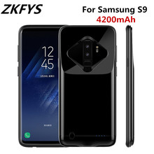 ZKFYS 4200mAh Ultra Thin Metal Frame Battery Charger Case For Samsung Galaxy S9 Portable High Quality Power Bank Cover