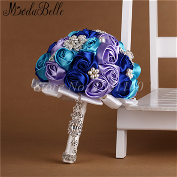 Handmade silk rose bridal bouquet wedding flowers buque de noivas artificial bridesmaid bouquet