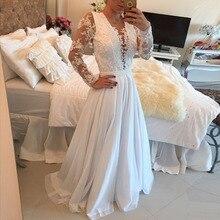 Vestido De Festa Sexy Durchsichtig Long Sleeve Vintage Lange Abendkleid Elegante Schnelles Verschiffen Spitze Top Brautkleider 2015 Neue
