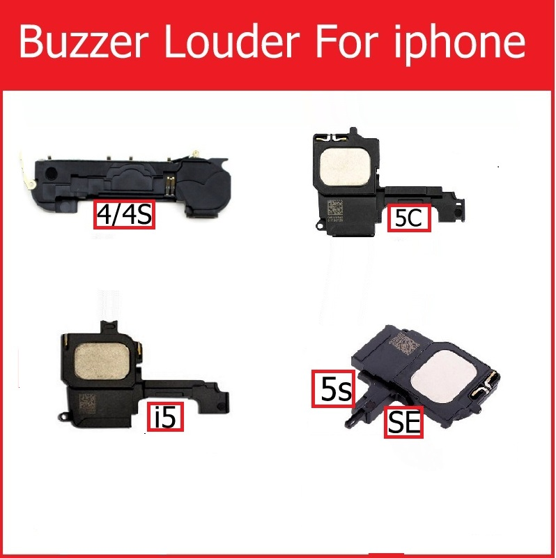 New Loud Speaker & Ringer For IPhone 4 4s 5 5S 5c SE 6 Louder Speaker For Iphone 5 5S 6 Buzzer Louder Speaker Replacement Parts