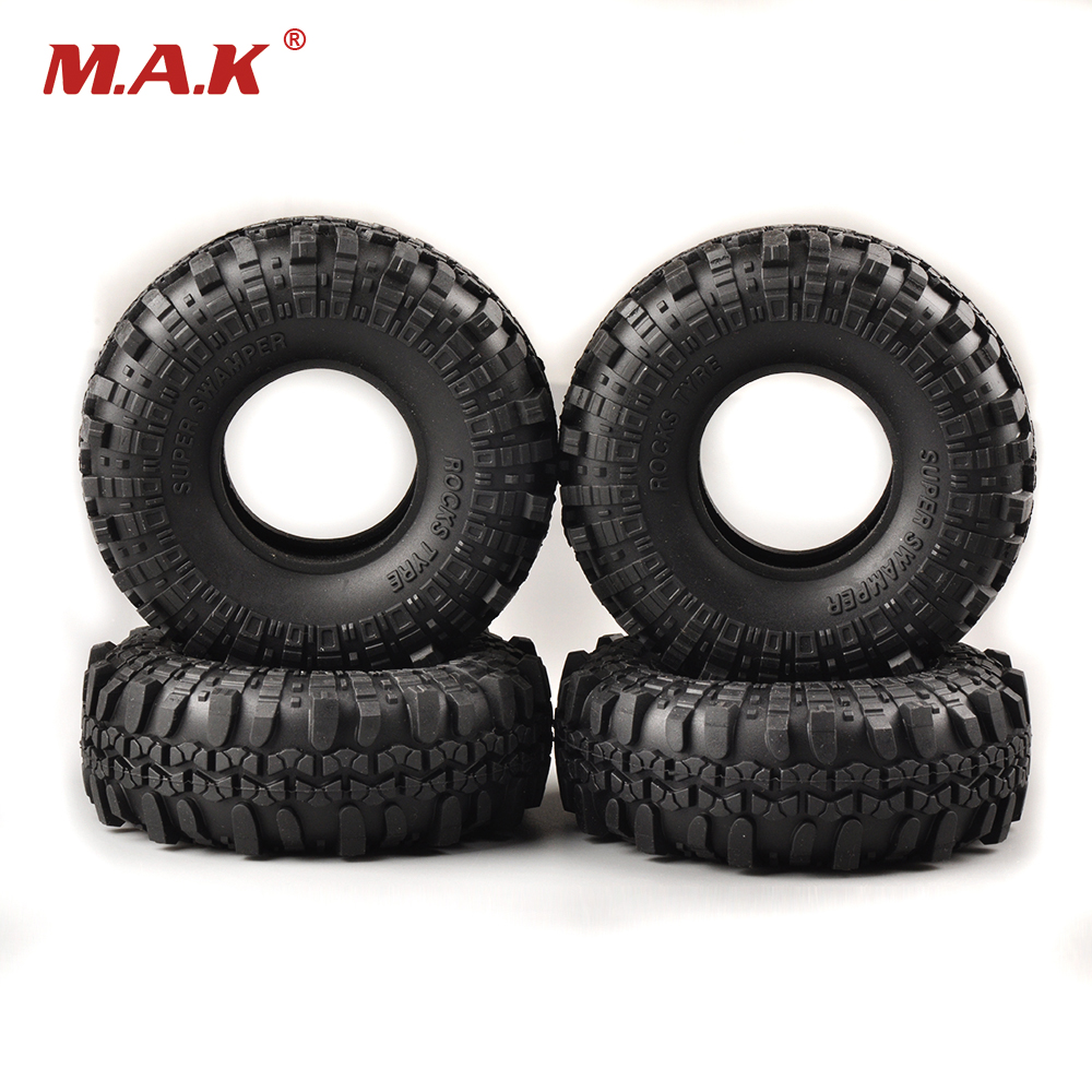 1/10 Scale RC Model Rock Crawler Car Truck Rubber Foam Tire Tyre 4PCS air tire tyre inflating inflator tool pressure gauge for car truck motorcycle