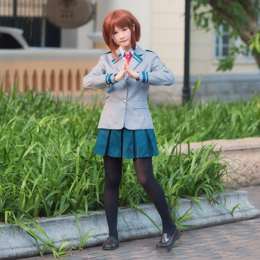 Anime My No Hero Academia Cosplay Costumes Photography Props Midoriya Izuku Bakugou Katsuki OCHACO URARAKA School Uniform