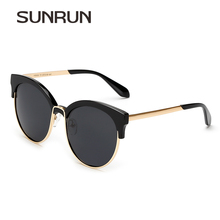SUNRUN Polarized Women Sunglasses Cat eye Brand Design Oculos de sol Fashion Cool Lady Sun Glasses Eyeglasses UV400 Y9936