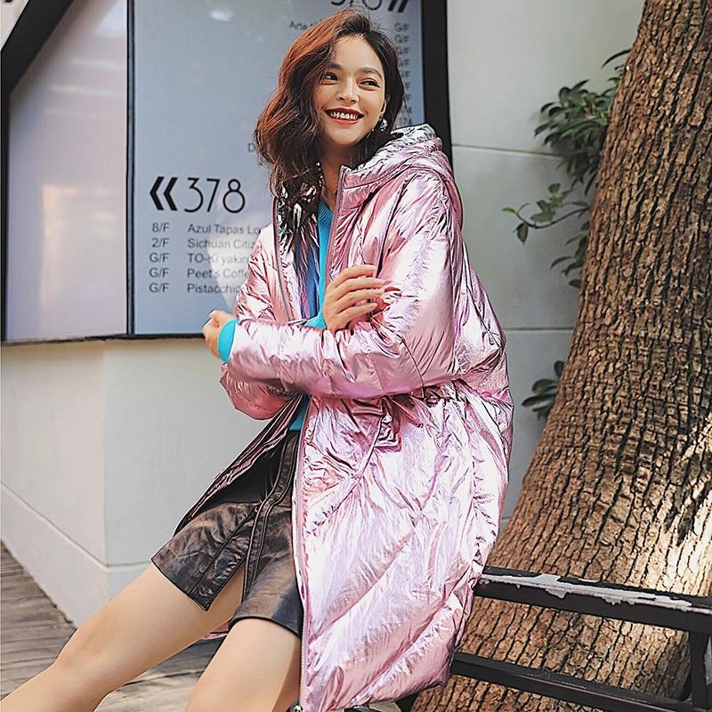 ARTKA Winter Mantel Frauen Dicke Glänzende Lange Unten Jacke Mode Warme 90% Weiße Ente Unten Mäntel Hohe Qualität Outwear ZK10187D-in Daunenmäntel aus Damenbekleidung bei  Gruppe 1