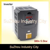 380v 5 5kw VFD Variable Frequency Drive VFD Inverter 3HP Input 3HP Output CNC Spindle Motor