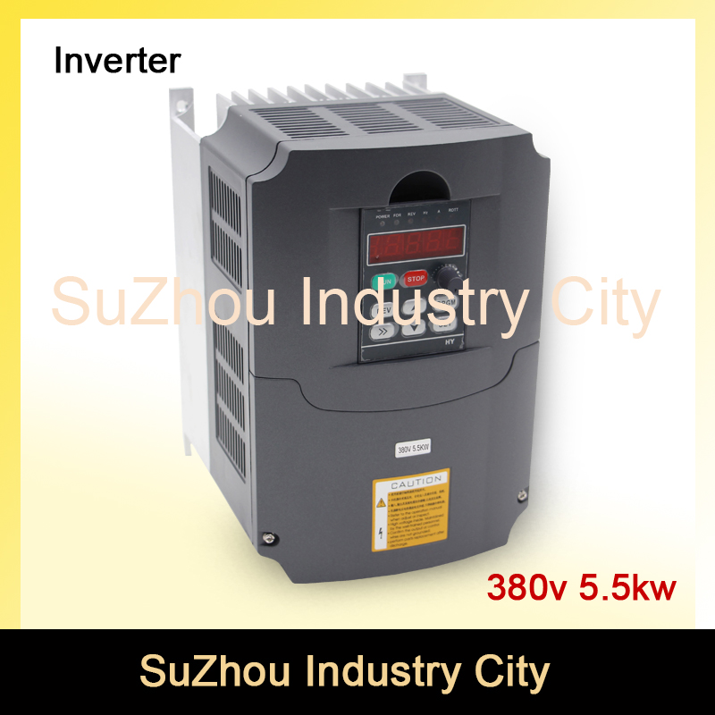 380v 5.5kw VFD Variable Frequency Drive VFD Inverter 3HP Input 3HP Output  CNC spindle motor Driver spindle motor speed control 2 2kw 380v vfd variable frequency drive vfd inverter 3hp input 3hp output cnc spindle motor driver speed control