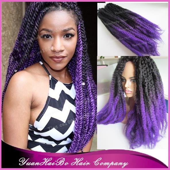 "Populaire Stock! 20 "" fold two tone noir / violet synthétique ombre marley  DR25"