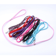 Smooth Solid Color PU Leather Leashes Pet Cat Puppy Dogs Long Leash Dog Walker
