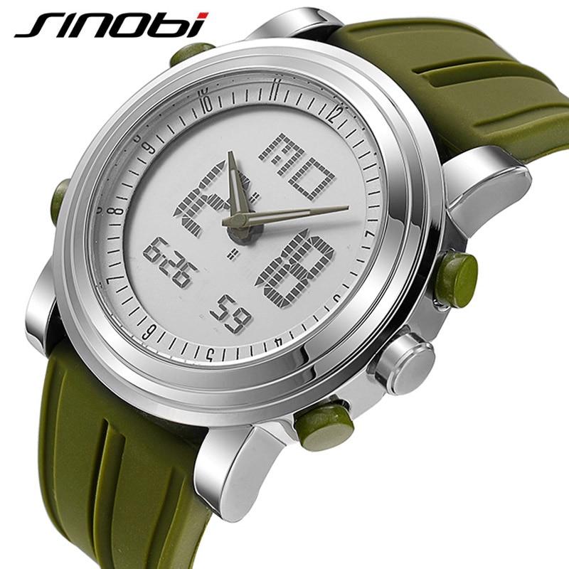 SINOBI Stop Watch Running-Clocks Digital Waterproof Chronograph Sports Men Date Wrist